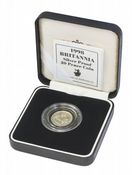 1998 Silver Proof Britannia 20P With Certificate